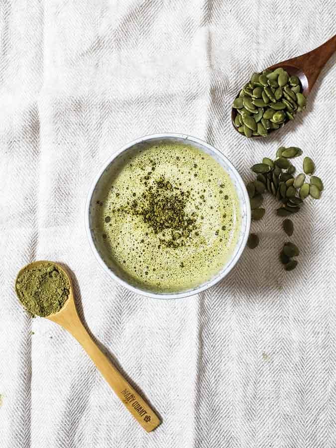 vegan matcha green tea