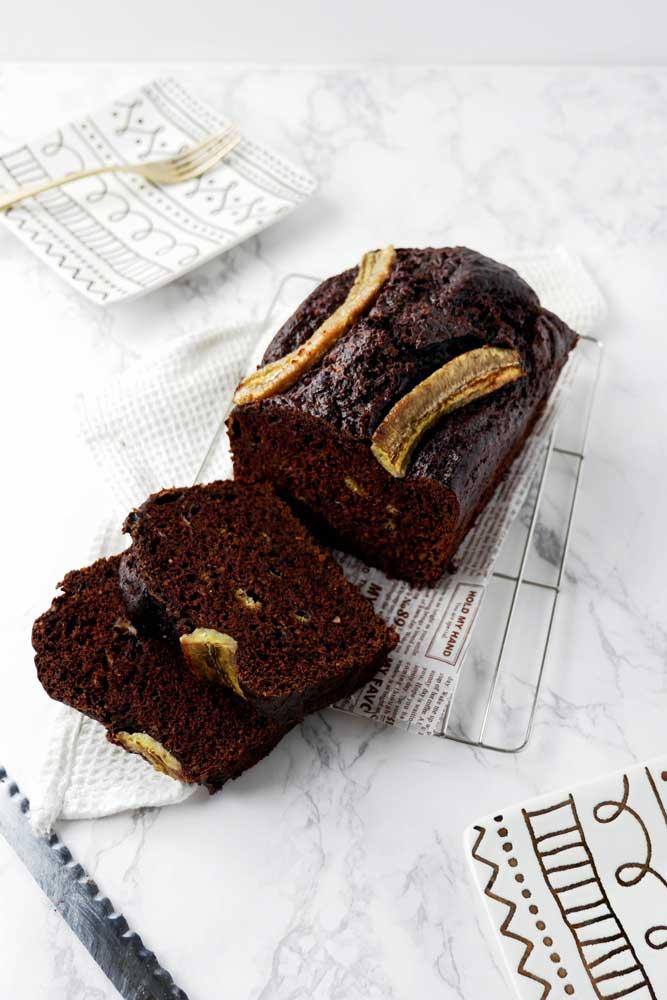 vegan chocolate banana bread
