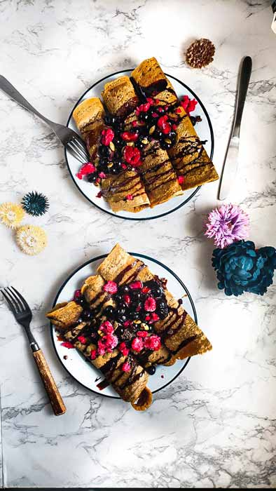 vegan vanilla crapes
