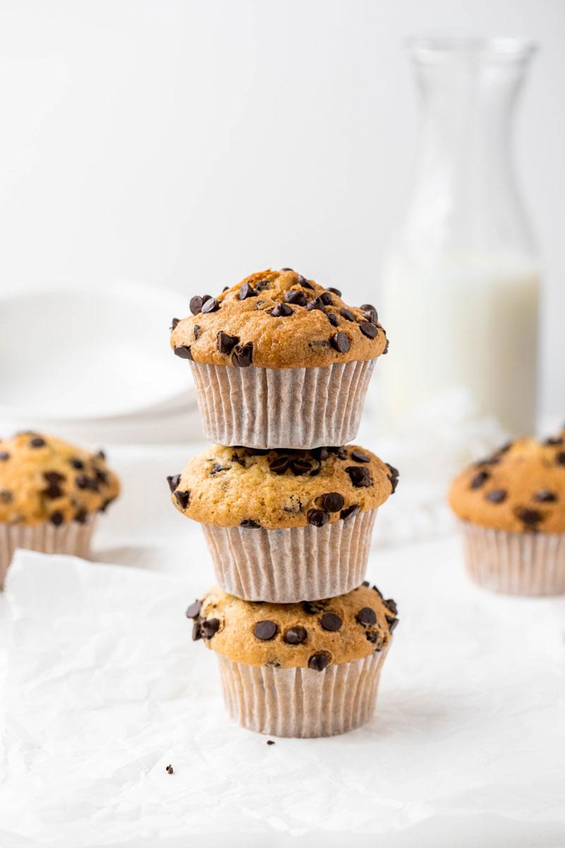 Vegan chocolate chip muffin