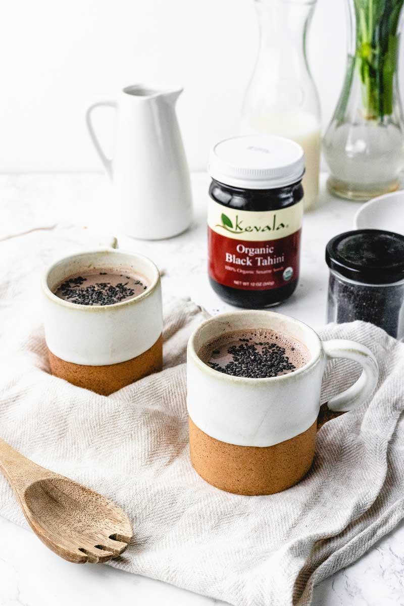 Black sesame hot chocolate